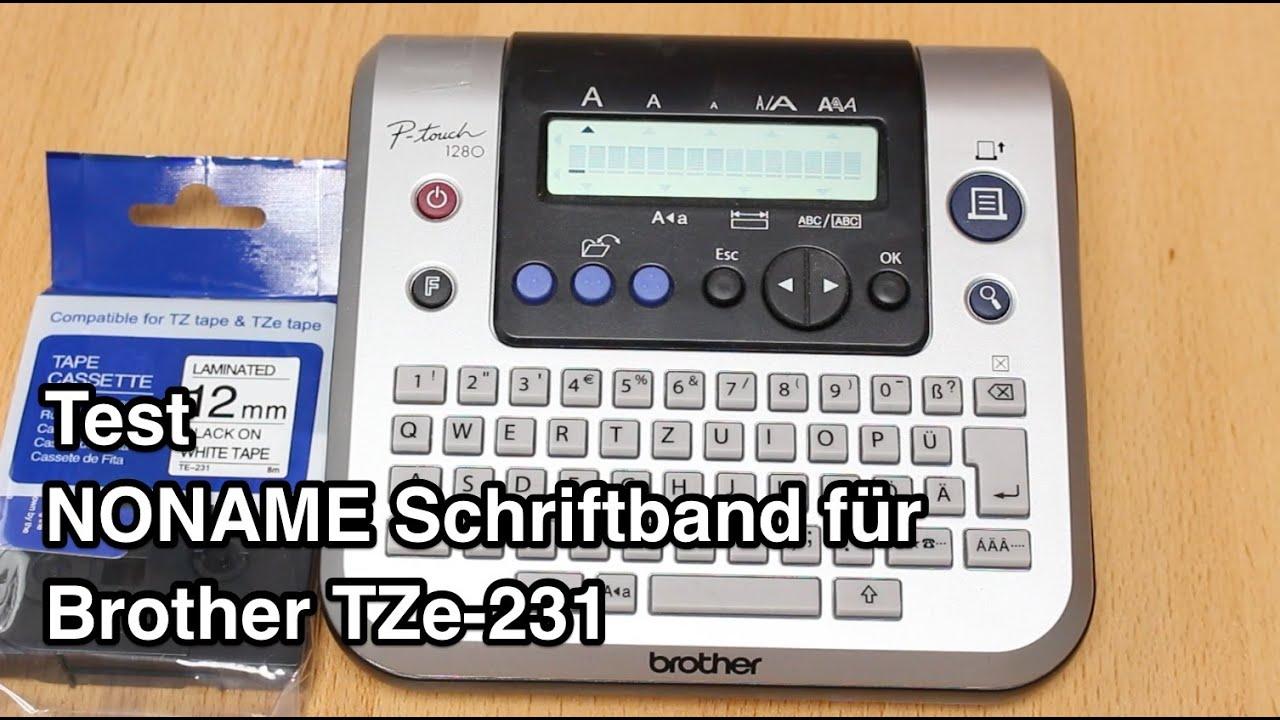 5 Schriftband-Kassette kompatibel für brother TZ-231 P-Touch 9700PC 1260VP