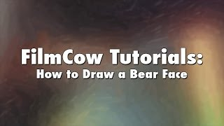 FilmCow Tutorials: How to Draw a Bear Face