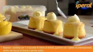 Lemon Sponge-pudding Con Gelato Alla Vaniglia
