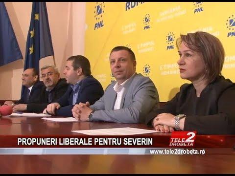 PROPUNERI LIBERALE PENTRU SEVERIN