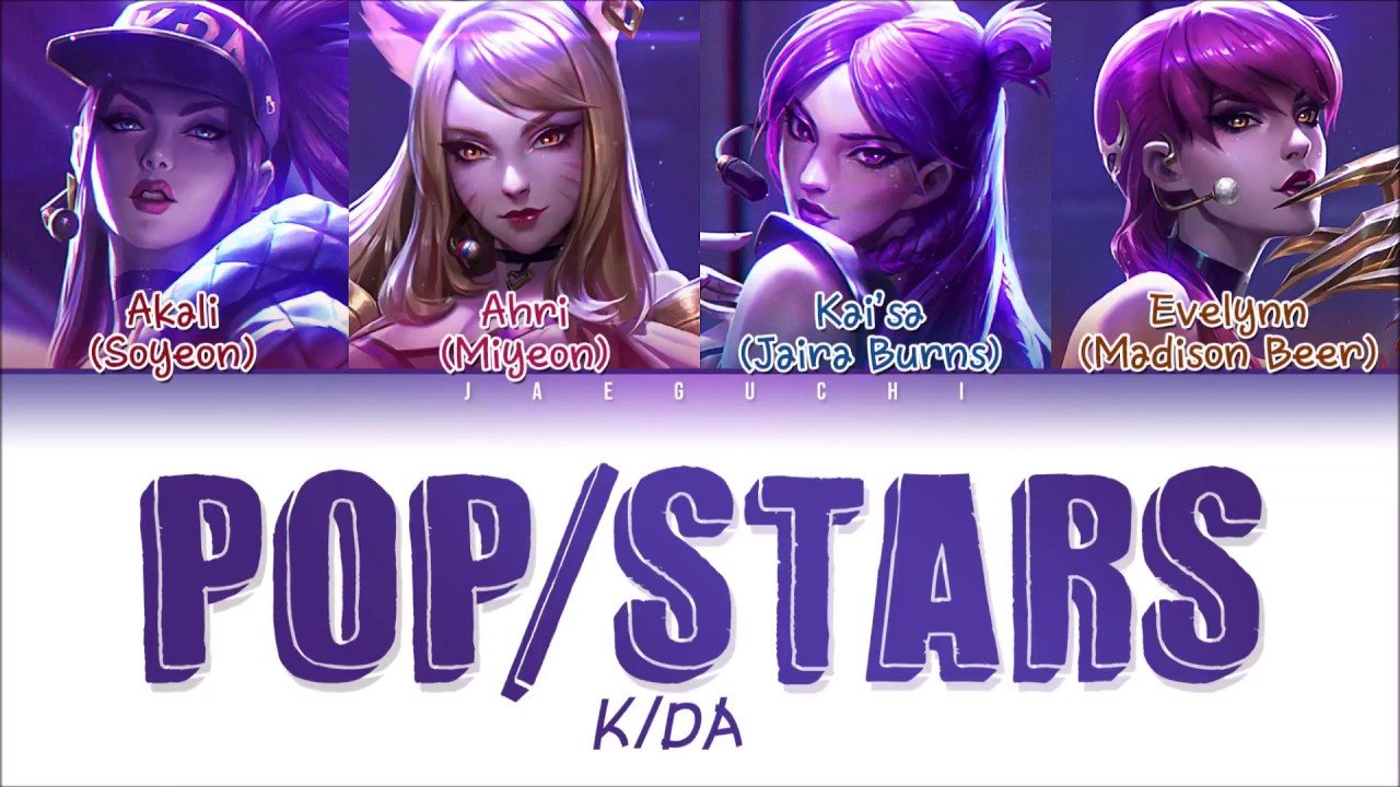 K Da Pop Stars Lyrics Ft G I Dle Madison Beer Jaira Burns