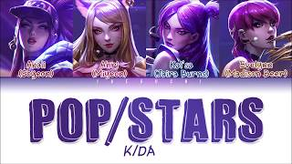 K/DA - 'POP/STARS' LYRICS (ft (G)I-DLE, Madison Beer, Jaira Burns) (Color Coded Eng/Rom/Han/가사)