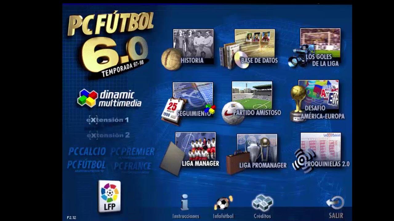 Juego pc computadora pc futbol 6 6. 0 argentina apertura 98 youtube.