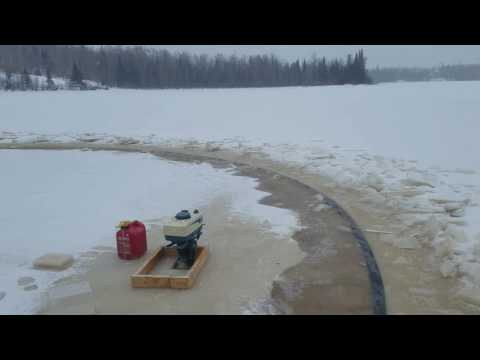 Ice Carousel, Merry Go Round, Cabin Life, Hard Water, Fun With Chainsaw