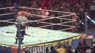 wwe summerslam 2013 randy orton cashes in money in the bank to become new wwe champion live