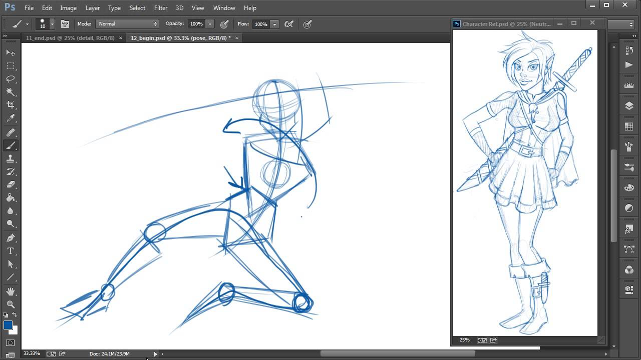 Photoshop Top Tip Quickly Sketch Out Dynamic Action Poses For Your