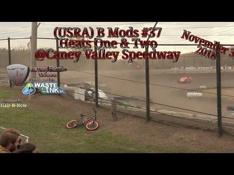 (USRA) B Mods #37, Heats 1 & 2, Caney Valley Speedway, 11/03/18