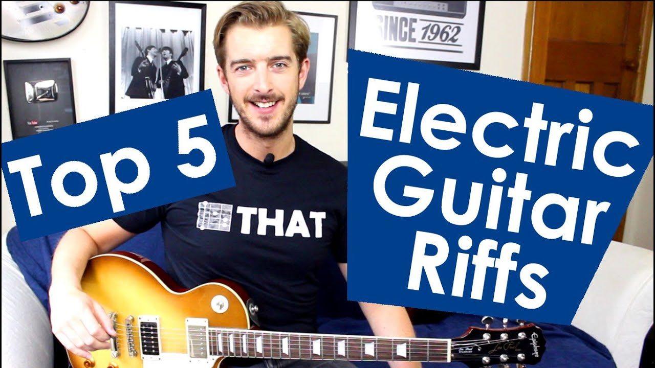 5 easy electric guitar riffs for beginners youtube. Black Bedroom Furniture Sets. Home Design Ideas