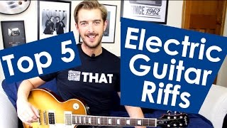 5 EASY Electric Guitar Riffs For Beginners Easy Riffs Lesson #2