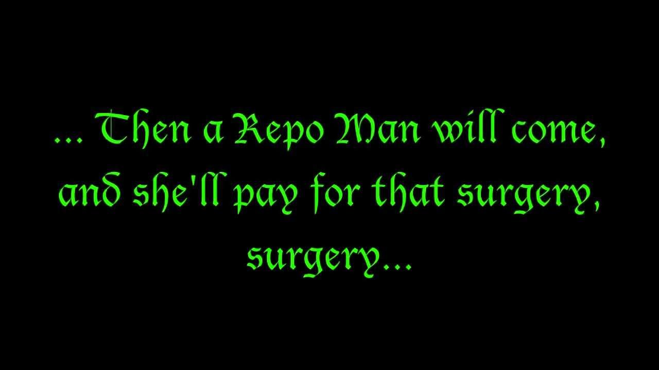 Zydrate Anatomy (Lyrics) ~ Repo! The Genetic Opera - YouTube