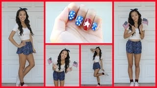 4th of July OOTD+Nail Tutorial! Thumbnail