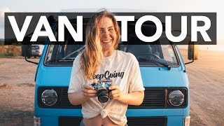 Custom made minimalistic VW T3 camper van tour