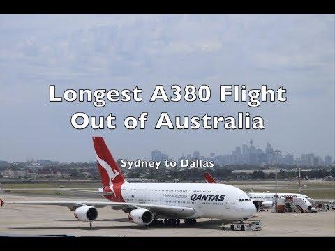 Longest A380 Flight out of Australia - QF7 Sydney to Dallas   A380 Upper Deck Economy
