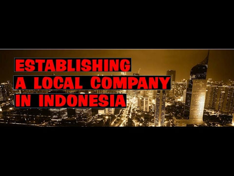 ESTABLISHING A LOCAL COMPANY IN INDONESIA