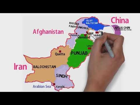 Political Map of Pakistan (Provinces, Capital, Provincial Capitals, Gilgit Baltistan and Kashmir)