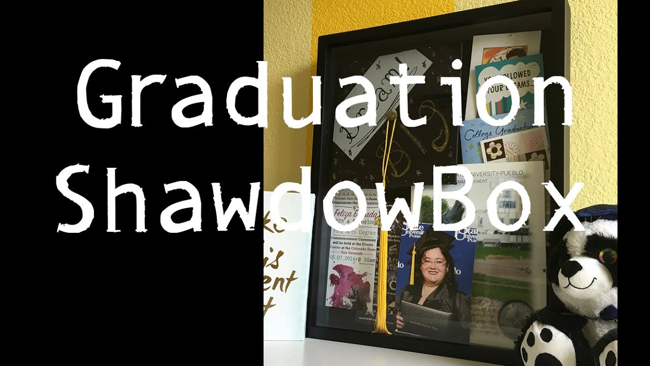 Graduation Shadow Box Tutorial - YouTube