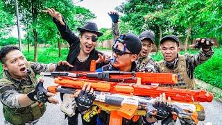 LTT Nerf War : SEAL X Warriors Nerf Guns Fight Dangerous Criminal Group Dr Lee Strong Weapons
