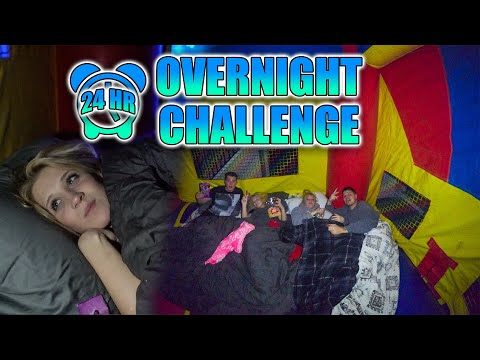24 HOUR OVERNIGHT CHALLENGE IN BOUNCY HOUSE!