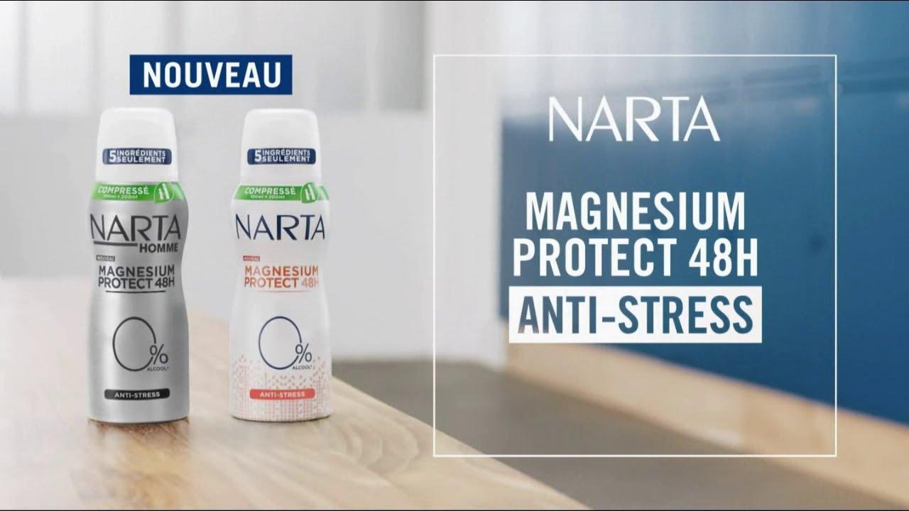 """Musique de la pub Narta Magnésium Protect 48h Anti-stress """"5 ingrédients juste l'essentiel"""" Pub 22s 2021"""