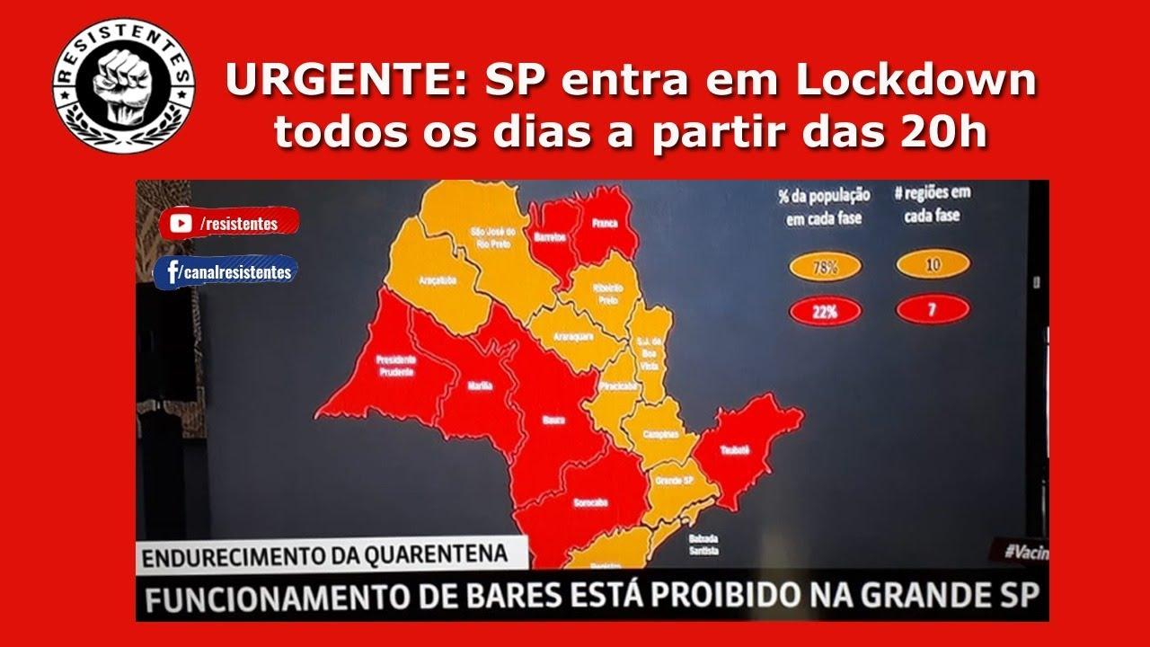 URGENTE: São Paulo entra em LOCKDOWN todos os dias a partir das 20h