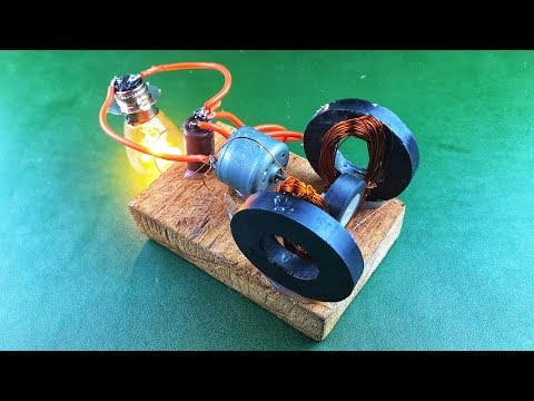 Free electricity generator , Amazing science energy new idea project 2019