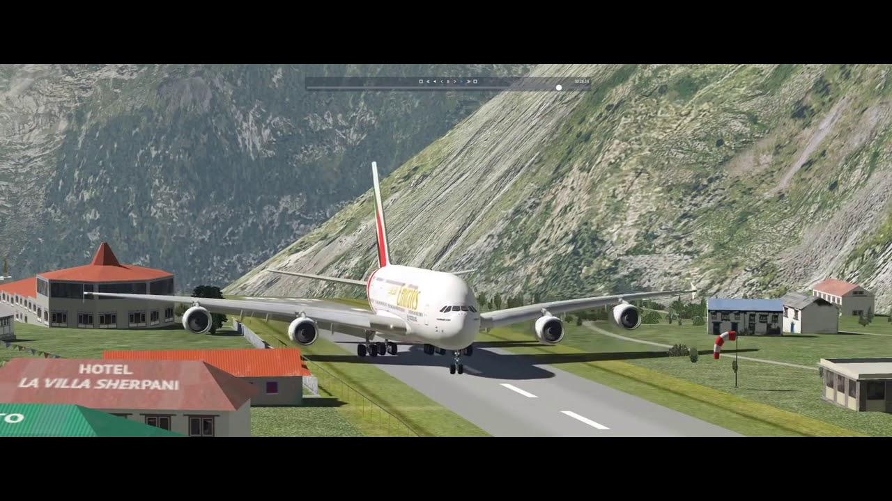 Biggest Airplane Landing At Lukla Airport Nepal Never