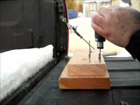 Ryobi JobPlus p340 18 volt with rigid JobMax auto-hammer attachment putting  in nails