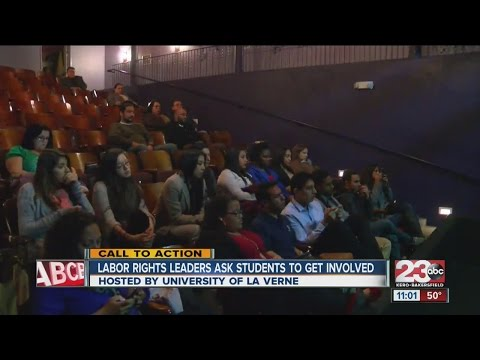 Labor rights leaders ask youth to get involved