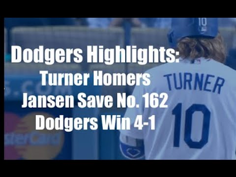 Dodgers Highlights: Kershaw Day, Justin Turner Homers and Kenley Jansen Makes History
