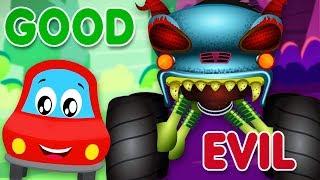 Good Vs Evil | Little Red Car | Cartoons For Babies