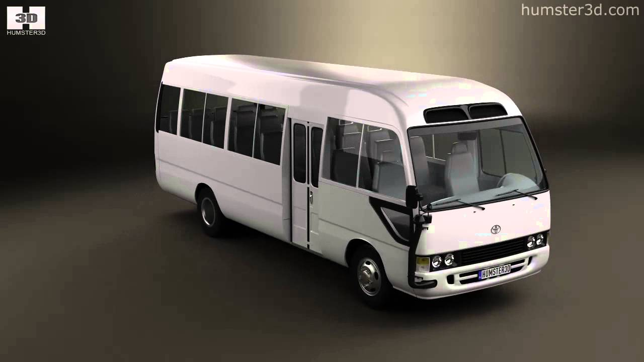 toyota coaster 2014 by 3d model store humster3d com