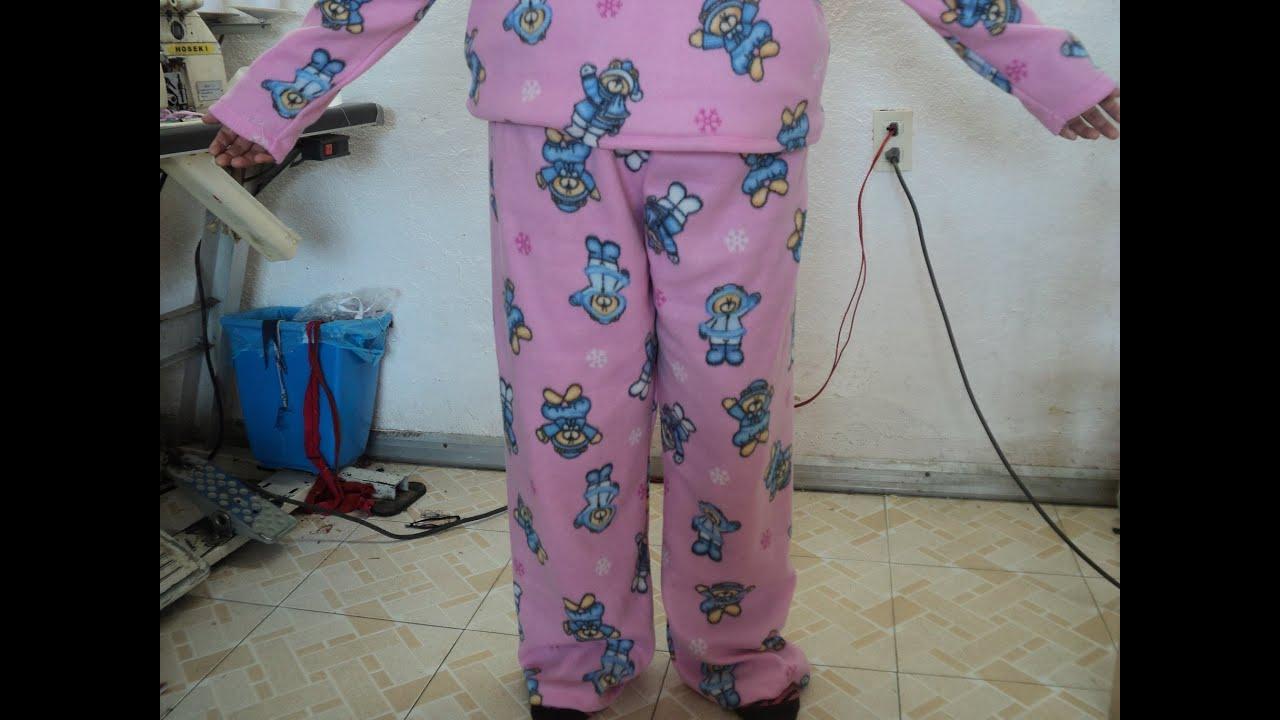 1a5a7f7e7c Como hacer una pijama para mujer  pantalón. - YouTube