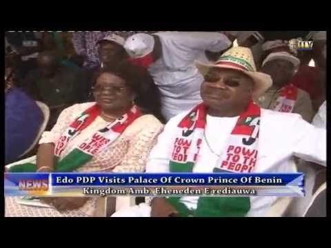 Edo PDP Visits Palace Of Crown Prince Of Benin Kingdom Amb. Eheneden Erediauwa