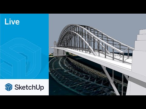 Modeling the Sydney Harbour Bridge in SketchUp Live!