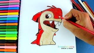 How to draw MAKOBREAKER (Slugterra) | Cómo dibujar babosa SHARKUS (Bajoterra)