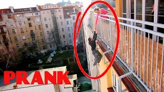 Falling From Balcony PRANK