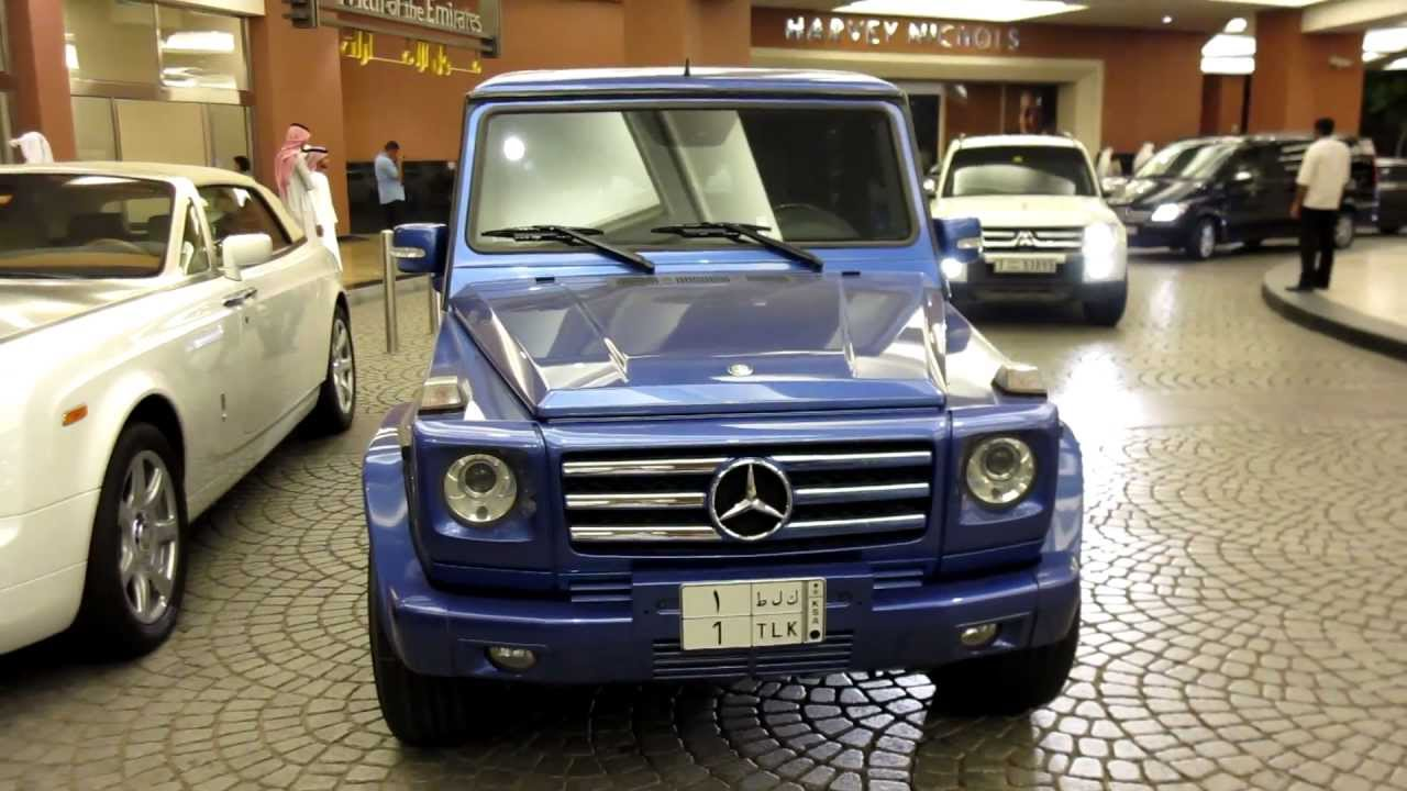 royal blue g55 amg mercedes benz from saudi arabia at moe