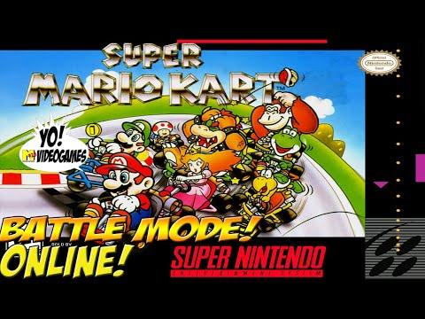 SNES Online! Super Mario Kart: Battle Mode! - YoVideogames