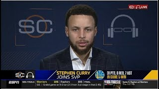 Stephen Curry & Draymond Green joins SVP   Reaction to Game 5: Warriors def. Raptors 106-105