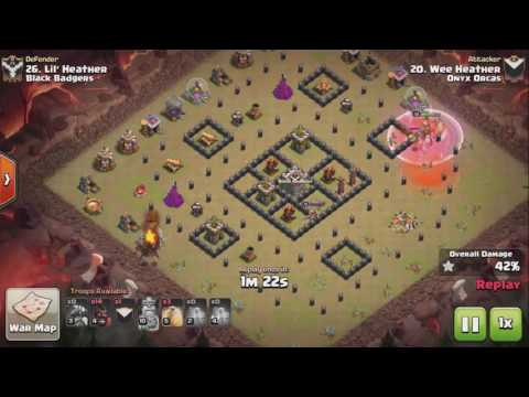 Clash of Clans TH8 Dragon Rider 3 STAR ATTACK