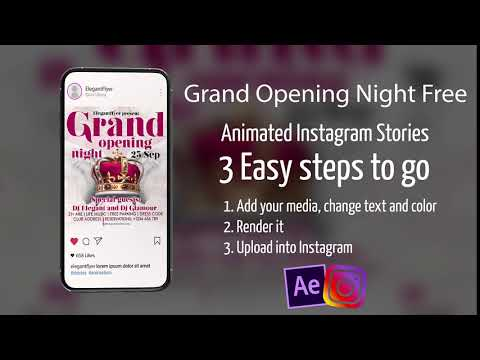 Grand Opening Night Free After Effects Template
