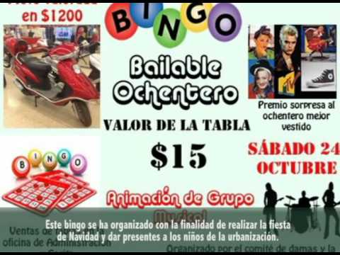 Invitación Al Bingo Bailable Ochentero En Urb Coral Casas En Venta