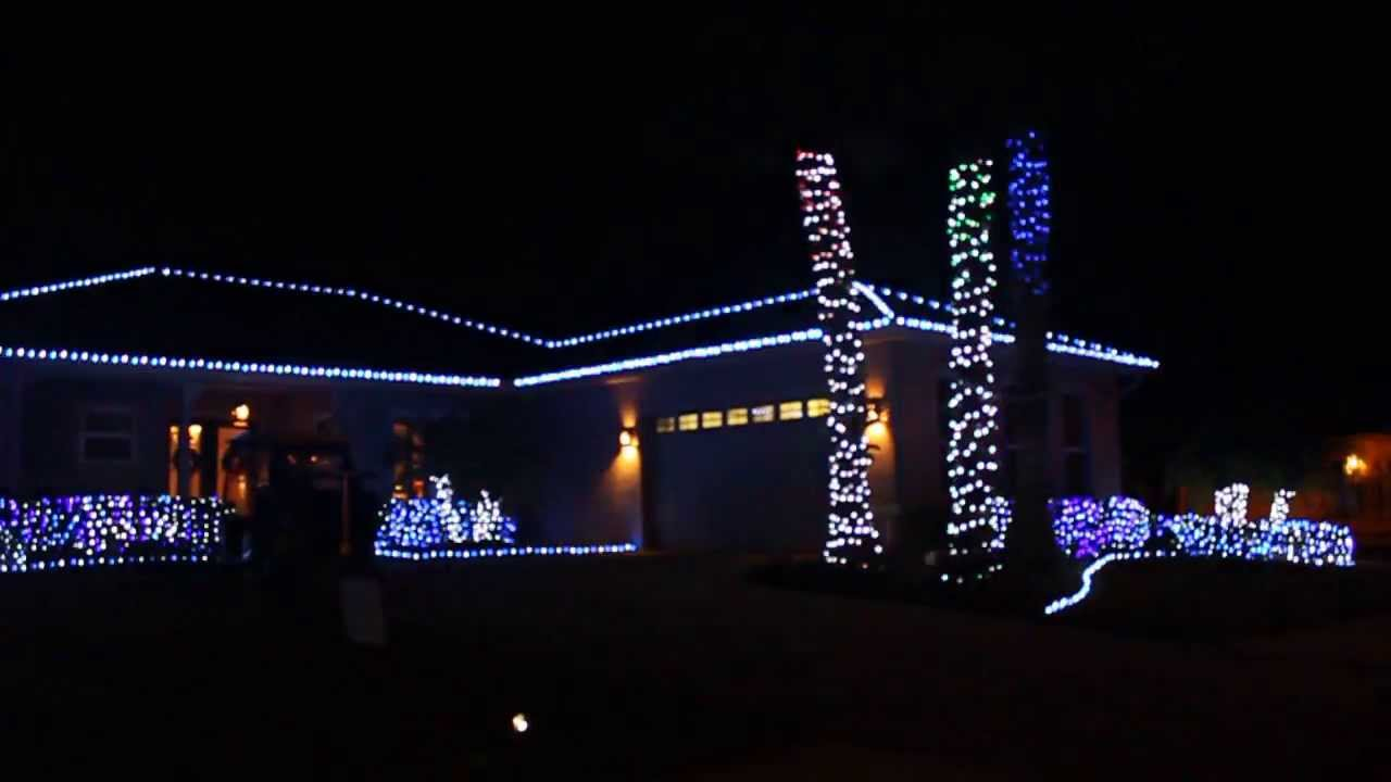 Religious Christmas Music set to House Light display 2013 - YouTube