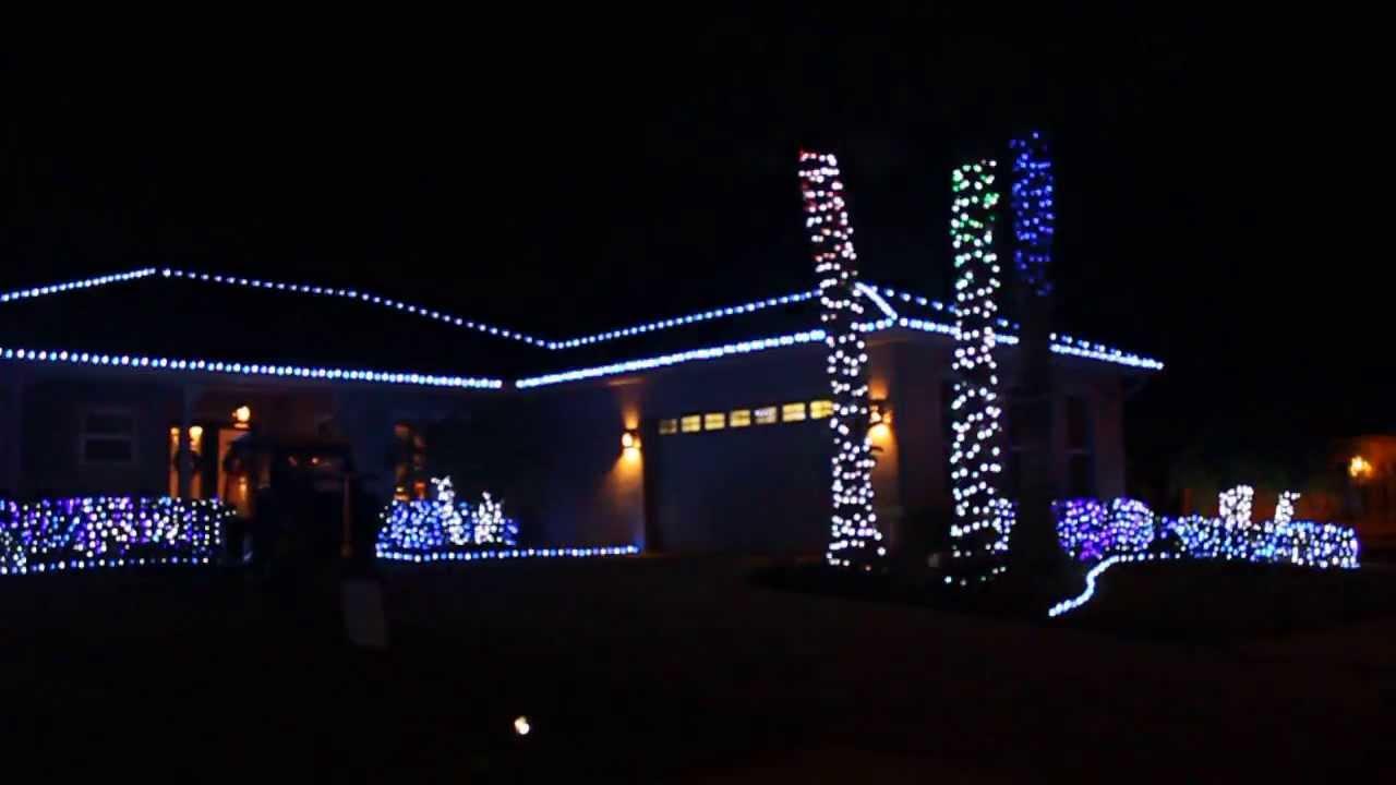 religious christmas music set to house light display 2013