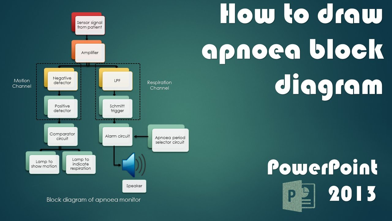 Powerpoint tutorial block diagram of apnoea monitor youtube ccuart Image collections