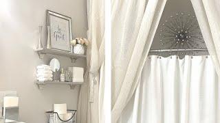 BATHROOM TUB/SHOWER DECORATING IDEAS/GUEST BATHROOM