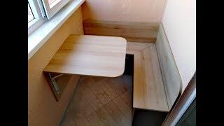 як зробити столик своїми руками на лоджії