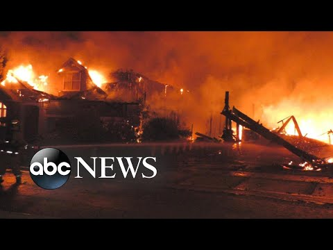 70 major wildfires burning across 10 states