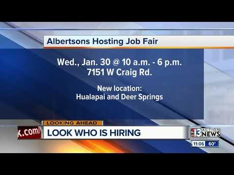 Albertson's Job Fair On Wednesday