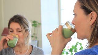 Jacynthe nous concocte un savoureux smoothie vert!!!